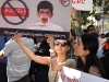 Protesters rally in front of the RA NA building demanding to stop political persecution against Vardan Oskanyan