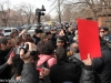 Protest action against the OSCE/ODIHR Election Observation Mission members took place in front of the OSCE Yerevan office
