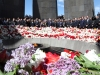 Armenians visit the Memorial Complex of Armenian Genocide Tsitsernakaberd on April 24, the commemoration day of the Great Armenian Genocide in 1915