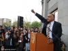 Heritage Party leader Raffi Hovhannisyan holds a rally on Armenian president Serzh Sargsyan's inauguration day