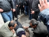 Residents of Proshyan village hold a protest action in defense of Araik Petrosyan who is suspected in the assassination of Proshyan village mayor Hrach Muradyan