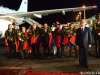 """Fans greet the Armenian national male chess team back to Yerevan from Istanbul with the champion's title at """"Zvartnots"""" International Airport"""