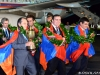 "Fans greet the Armenian national male chess team back to Yerevan from Istanbul with the champion's title at ""Zvartnots"" International Airport"
