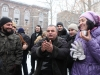 The situation in Mashtots Park becomes tense as the protesters despite the bad weathers conditions keep on protesting against the illegal constructions