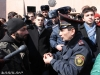 Activists who struggle against the illegal construction in Mashtots Park hold a protest action in front of the Municipality of Yerevan