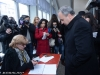 Azatutyun Party leader, presidential candidate Hrant Bagratyan votes in Armenian Presidential Elections 2013